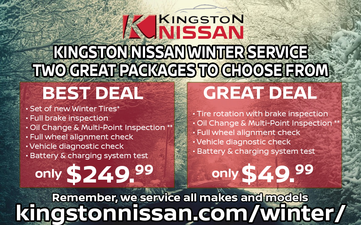 Kingston Nissan Winter Service Pacakge